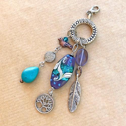 Purple & Blue Swirl charm set