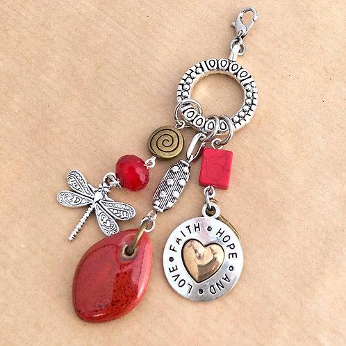 Faith Hope & Love charm set