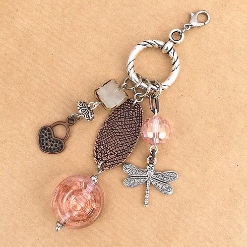 Copper Rose charm set