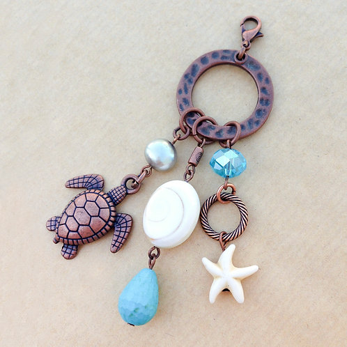 Sea Turtle copper charm set