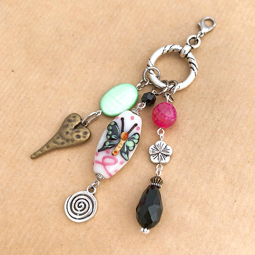 Green Butterfly charm set