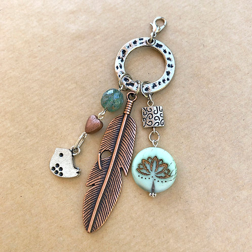 Lotus Feather charm set