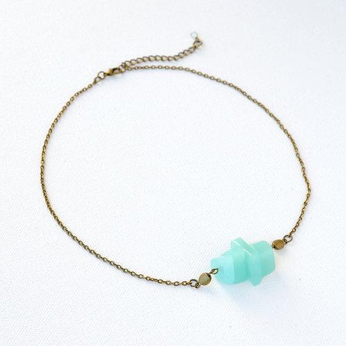 Aqua Glass necklace