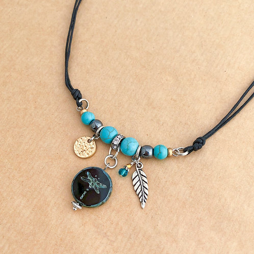Black Dragonfly necklace