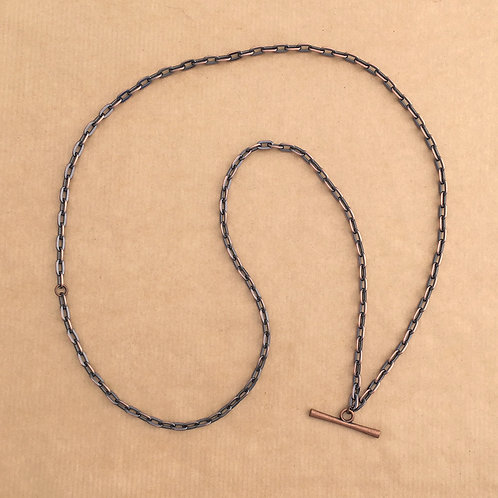 Antique Copper medium-link chain with 'Modern' toggle