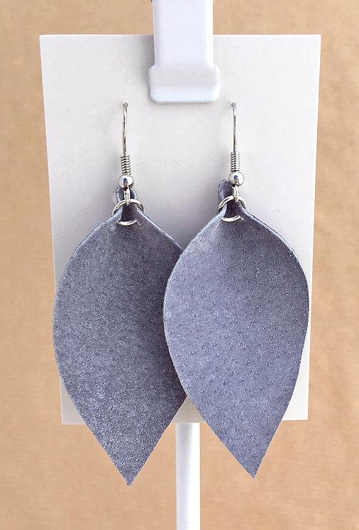 Gray Suede Petal earrings