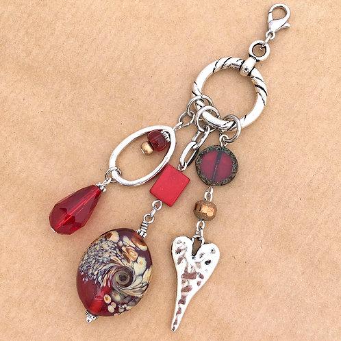 Red Regency charm set