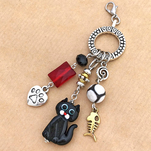 Black Cat charm set