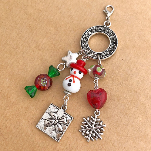 Holiday Snowman charm set
