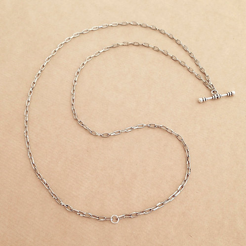 Silver small-link chain with 'Classic' toggle