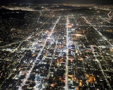 Michael Light, Hollywood and Sunset Looking East, 2016 — De la série LOS ANGELES © Michael Light.