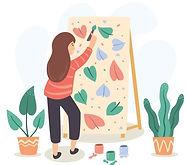 artista-feminina-pintando-uma-tela-com-m