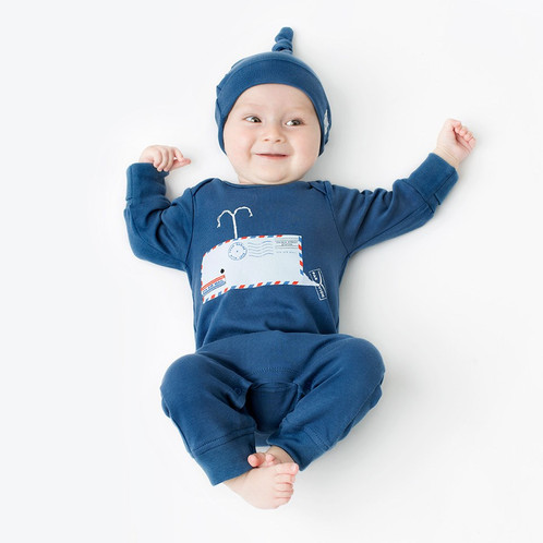 From Babies With Love Whale Baby Grow Mamma Latte Home