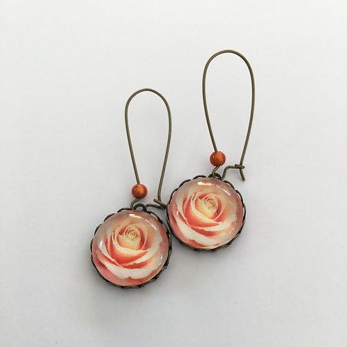Boucles créoles Roses Saumon