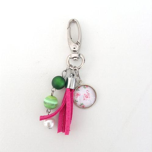 Porte-clés Flamant Rose, modèle 2