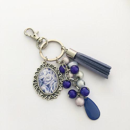 Porte-clés Bleu, breloques