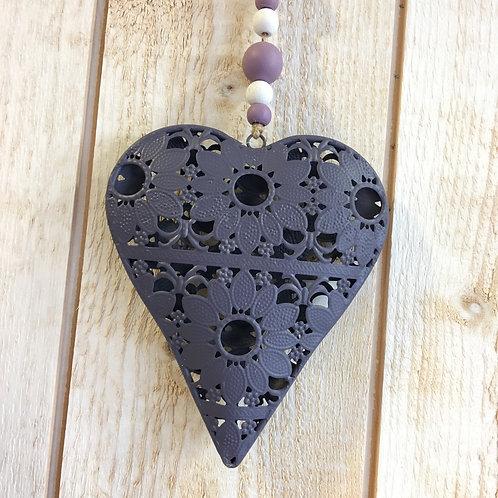 Coeur métal violet