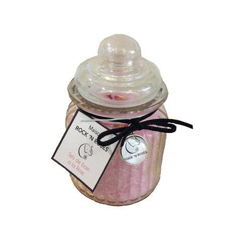 Bonbonnière sels de bain parfumé à la rose