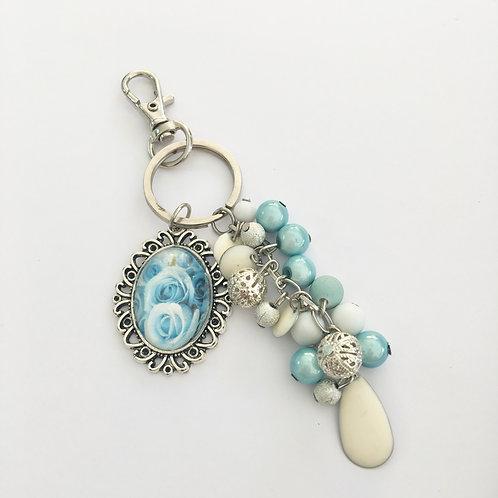 Porte-clés Blue Light, breloques