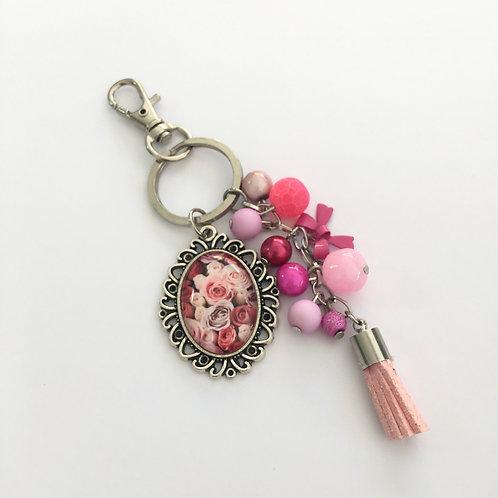 Porte-clés Roseraie 3, breloques
