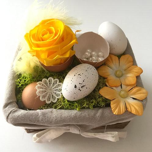 Compo de Pâques, jaune et blanc