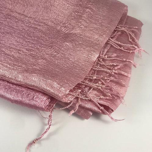 Etole de soie vieux rose