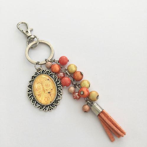 Porte-clés Jaune, breloques