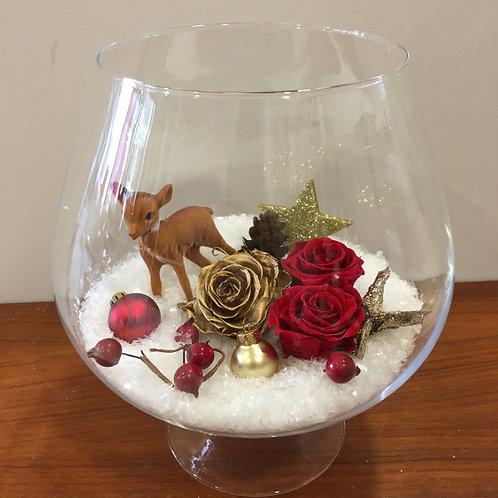 Compo Noël authentique en verre