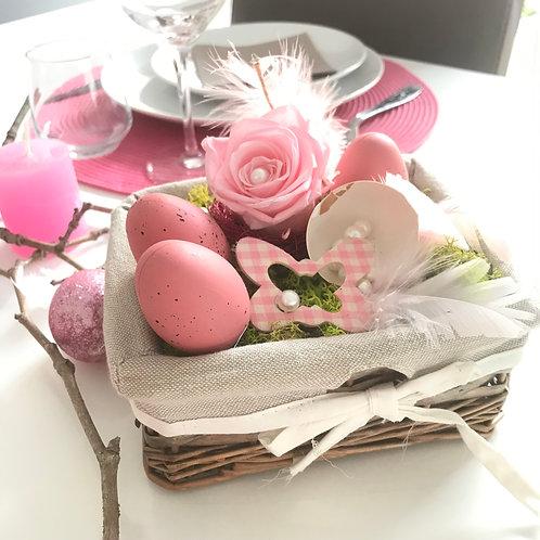 Compo de Pâques, rose et blanc