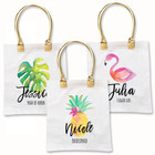 Tropical Beach Tote Bags