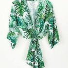 Monogram Palm Leaf Cotton Robes