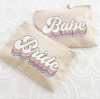 Retro Bridal Party Cosmetic Bags