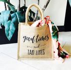 Theme Burlap Tote Bags