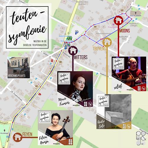 Wandelroute TeutenSymfonie + artiesten +