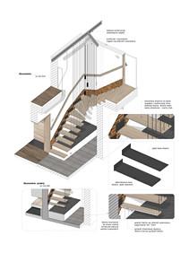 model schodów podwieszanych