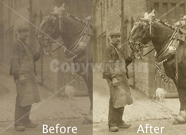 Horse Photo Restoration, comparison