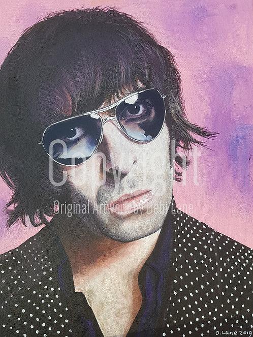 Liam Gallagher - Debi Lane Mounted Print