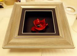 Gold Framed Ceramic Poppy Box
