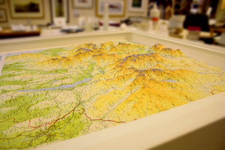 Lake District 3D Map Frame