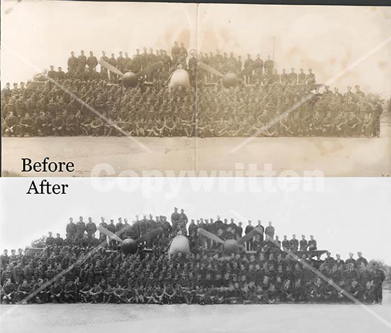 Air Force Group Photo Restoration