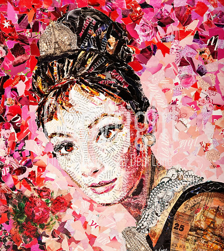 Audrey - Debi Lane Mounted Print