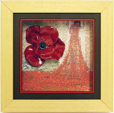 Oak Frame Ceramic Poppy Box