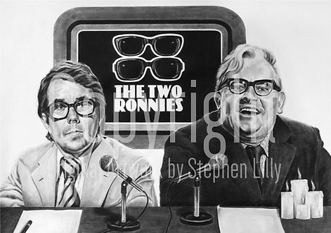 'The Two Ronnies' - Stephen Lilly - Print