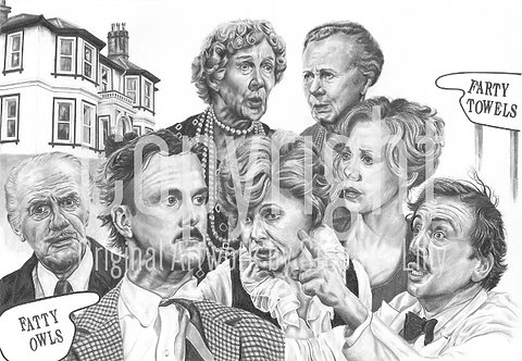 'Fawlty Towers' - Stephen Lilly - Print