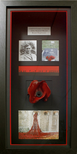 Personalised Ceramic Poppy box