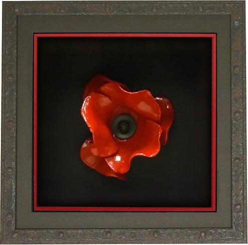 Cast Iron Effect Poppy Box
