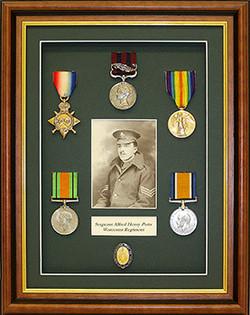 Framed Medals/Restored Photograph