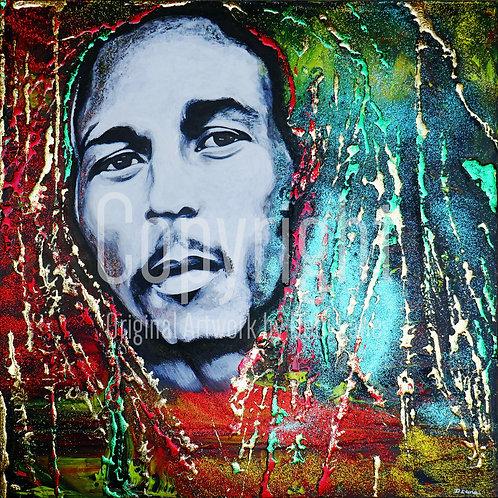 Bob Marley - Debi Lane Mounted Print