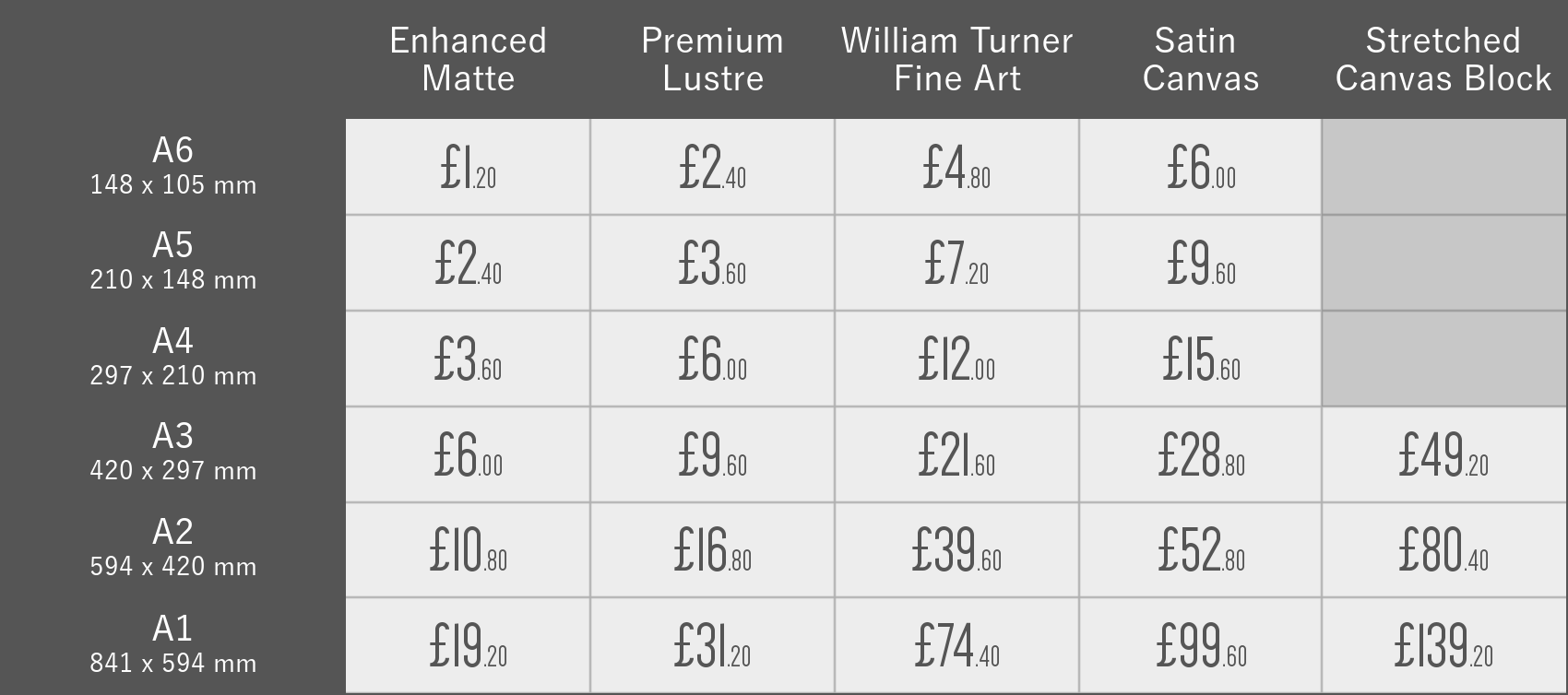 PRINT PRICE LIST Incl VAT - A SIZES.png