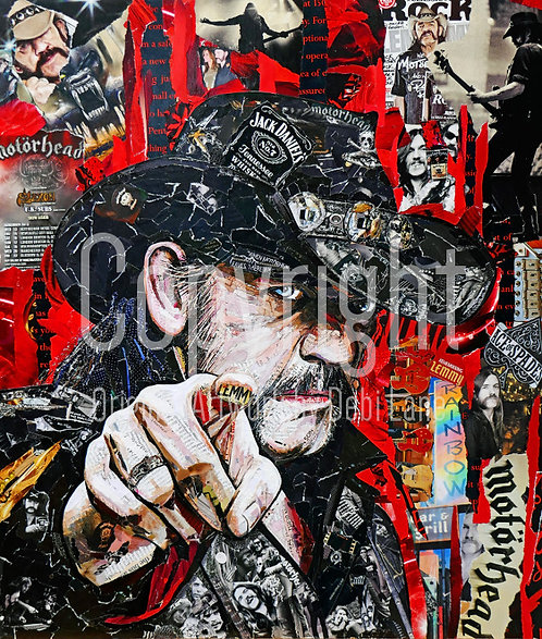 Lemmy, Motorhead - Debi Lane Mounted Print
